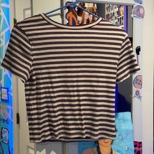 Striped tee shirt (short sleeved)